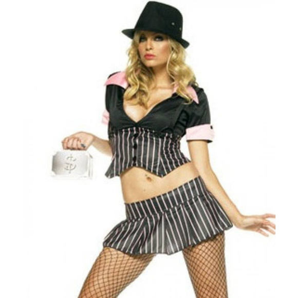 89c7c556142 Mobster Girl Womens Halloween Costume Size Large